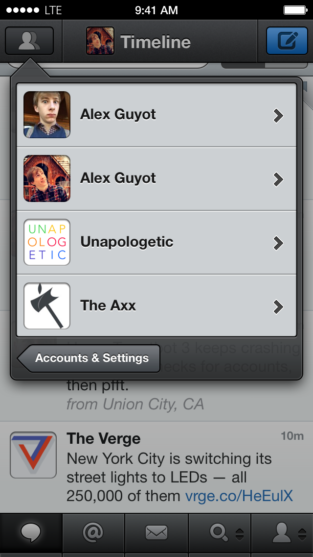 Tweetbot 3 Accounts View
