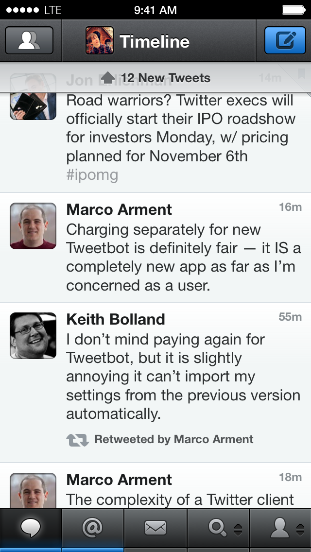 Tweetbot 3 Timeline View