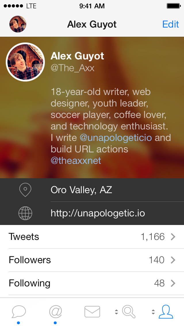 Tweetbot 3 Profile View
